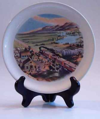 Vintage Currier Ives Across the Continent Train Plate