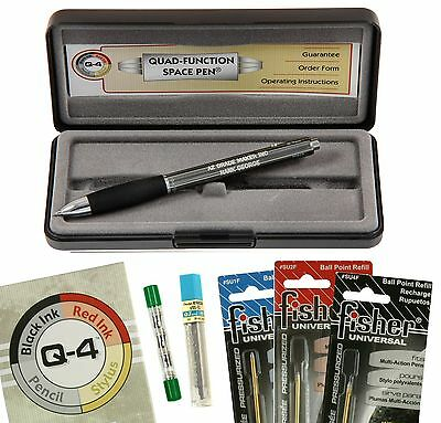 Personalized Fisher Space Pen #Q-4 / Quad Action Multi-Pen with all Refills
