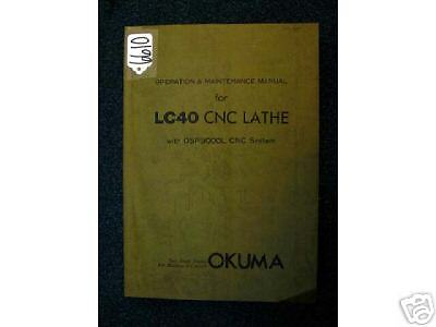 Okuma Operation & Maintenance Manual for LC40 CNC Lathe