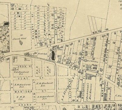 Astoria Middle Village NY 1873 Maps with Homeowners Names Shown