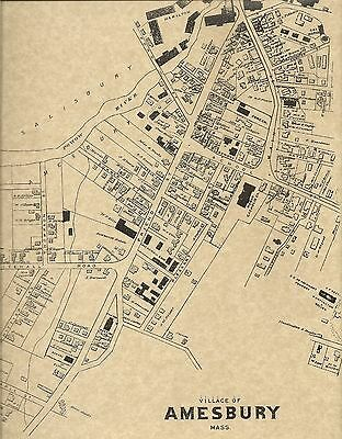 Amesbury Salisbury Point Newburyport MA 1884  Maps with Homeowners Names Shown