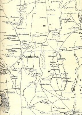 Brooklyn Danielson Wauregan CT 1869 Maps with Homeowners Names Shown