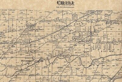 Chili NY 1872 Map with Homeowners Names Shown