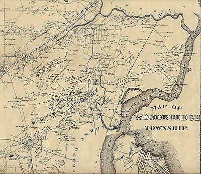 Woodbridge Iselin Avenel Carteret NJ 1876 Maps with Homeowners Names Shown