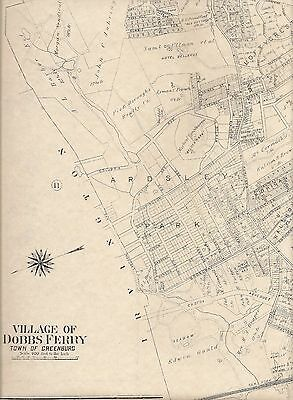 Dobbs Ferry NY 1911 Maps with Homeowners Names Shown