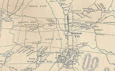 Durham CT 1874 Maps with Homeowners Names Shown