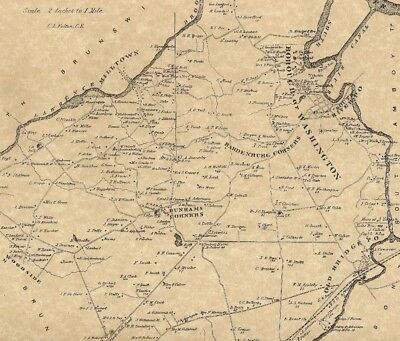East Brunswick South River Old Bridge NJ 1876 Maps with Homeowners Names Shown