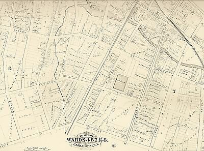 Elizabeth NJ 1882  Maps with Homeowners Names Shown 12 map set
