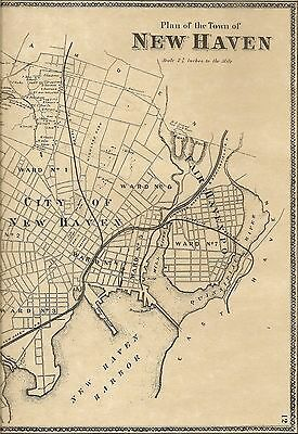 New Haven Fairhaven Westville CT 1868 Maps with Homeowners Names Shown