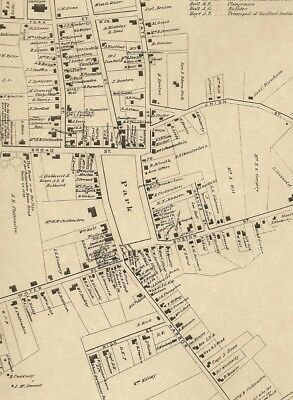 Guilford Sachem Head Leetes Island CT 1868  Maps with Homeowners Names Shown