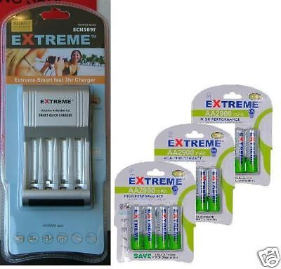 INTELLIGENT AA/AAA FAST BATTERY CHARGER 12x AA*2900 LR6