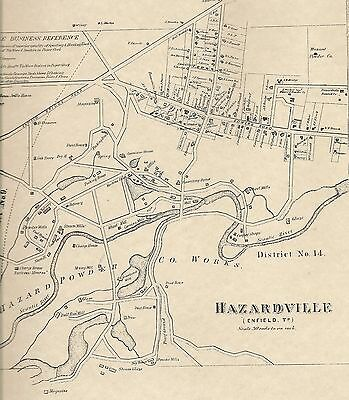 Hazardville Enfield CT 1869 Maps with Homeowners Names Shown