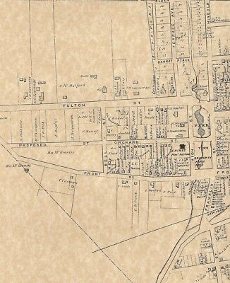 Hempstead NY 1873 Maps with Homeowners Names Shown