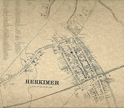 Herkimer East Schuyler East Herkimer NY 1868 Maps with Homeowners Names Shown