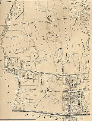 Irvington NY 1911 Maps with Homeowners and Landowners Names Shown