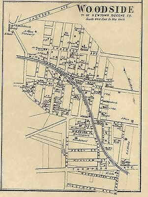 Maspeth Woodside East Williamsburg NY 1873 Maps with Homeowners Names Shown