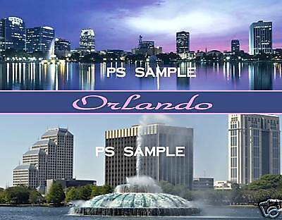 Florida - ORLANDO SKYLINE - Travel Souvenir Flexible Fridge Magnet
