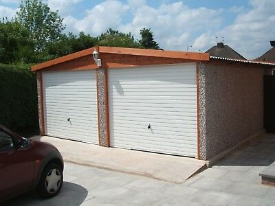 Apex Roof Double Concrete Garage