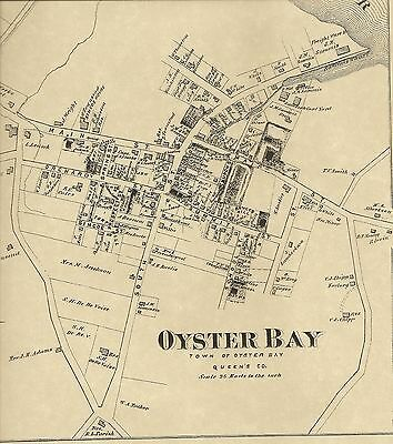Oyster Bay Jericho Farmingdale  NY 1873 Maps with Homeowners Names Shown
