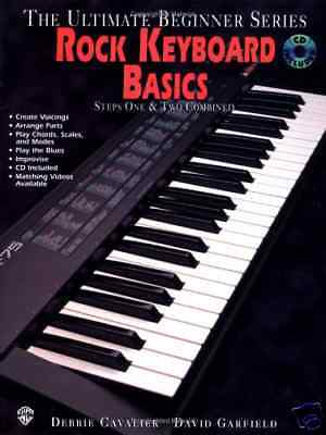 Learn To Play Rock Keyboard Music Tutor Book Cd & Dvd Pianos
