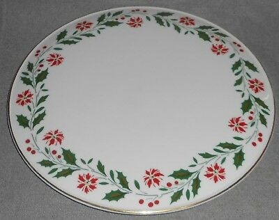 1986 Royal Doulton HOLLY PATTERN Cake Plate GOLD TRIM