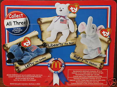 McDonald's® American Trio Lefty Righty LiBEARty 96 LOT3