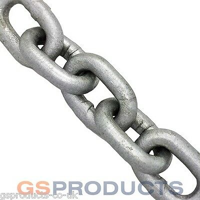 6mm Galvanised Steel Chain x 10 Metres (Short Link 20mm) DIN766 1600kgs MBL