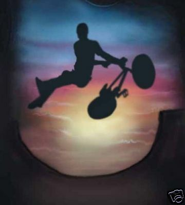 Airbrushed BMX Bike T-Shirt in all sizes