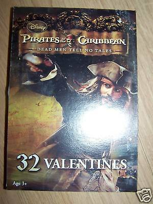 Box of 32 Disney Pirates of the Caribbean POTC Valentines Day Cards New