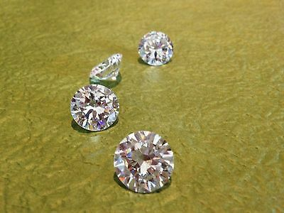 1 x 9mm WHITE Russian Lab Diamond BRILLIANT CUT 2.5ct