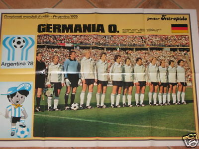 Poster Germania Germany Deutschland World Cup 1978