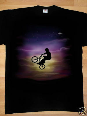 Airbrushed BMX Bike T-Shirt Bicycle motocross in all sizes