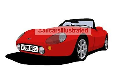 Tvr Griffith Graphic Car Art Print (Size A3). Personalise It!