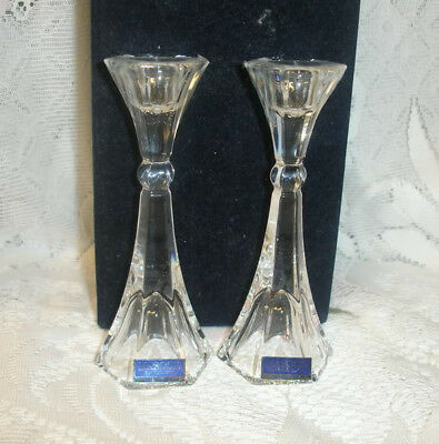 Waterford Crystal Candle Holders Wedding Gift Set of 2