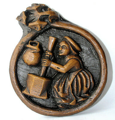 Medieval Ornament Wall Plaque Carving Unique Hand Made