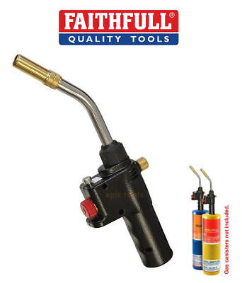 FAITHFULL MAPP Propane Soldering/Brazing Auto Piezo Power Gas Torch,FAIGZPROAUTO