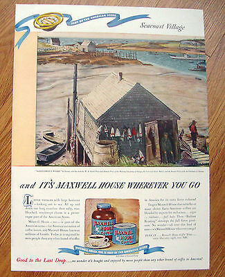 1946 Maxwell House Coffee Ad   Lobsterman's Wharf