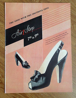 1947 Air Step Shoe Shoes Ad  The Youthful Feel