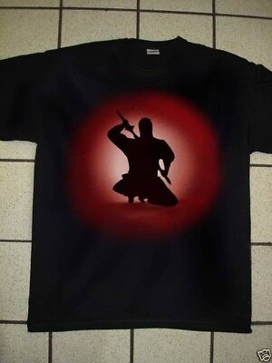 Airbrushed Samari Martial Art T-Shirt in sizes Small To 3XXXL