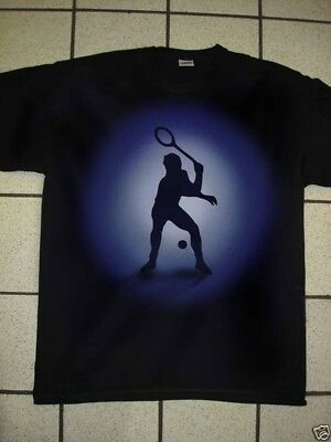 Airbrushed Tennis Player T-Shirt in  all sizes