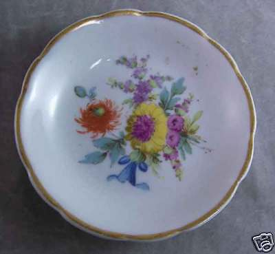 Antique Maddock Pottery Lamberton USA Floral Butter Pat