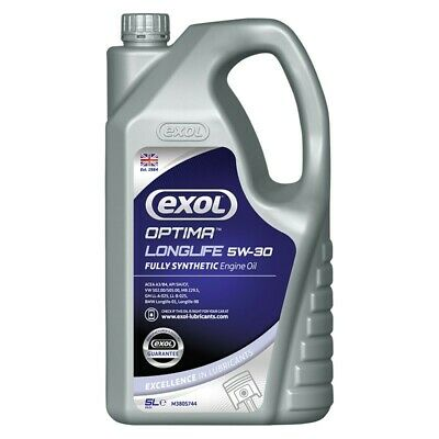 Exol Fully Synthetic Premium Long Life 5W30 Engine Oil 5Ltr Vauxhall