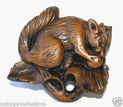 SQUIRREL Medieval Replica Carving Gift Oak Ornament New