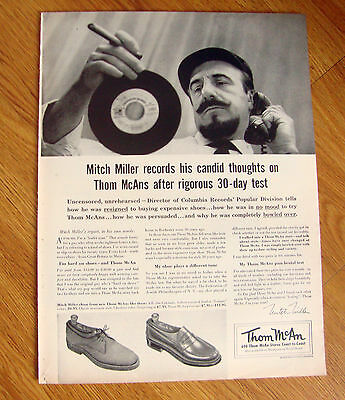 1956 Ad Thom McAn Shoe  Mitch Miller Director Columbia