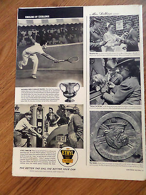 1941 Ethyl Gasoline Ad Tennis National Men's Singles Trophy