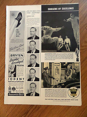 1941 Ethyl Gasoline Ad Calnan Memorial Trophy Fencing