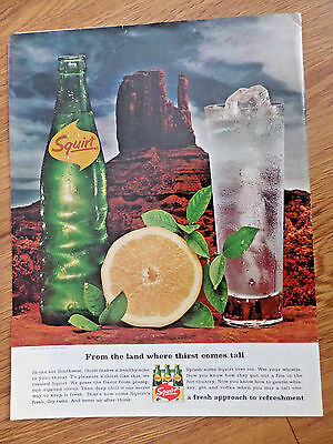 1966 Squirt Soda Ad   Hot Southwest  Thirst Comes Tall