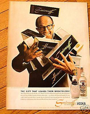 1958 Smirnoff Vodka Ad Phil Silvers Star of Television