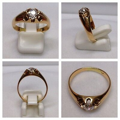 585er Goldring Gold Ring Solitärring 0,50 Ct  Brillant Brillantring