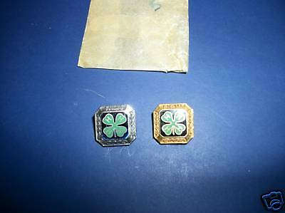 2 Vintage 4H 4-H Pins Third Silver & Fifth Gold